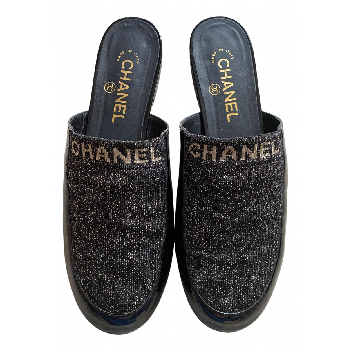 Chanel \N Black Suede Flats for Women 40 EU