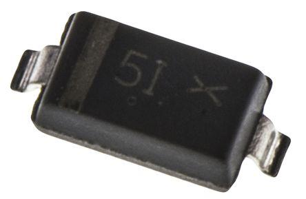 STMicroelectronics 100V 200mA, Schottky Diode, 2-Pin SOD-123 BAT41ZFILM (25)