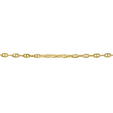 14K Gold 18 Inch Solid Curb Chain Necklace, One Size , No Color Family