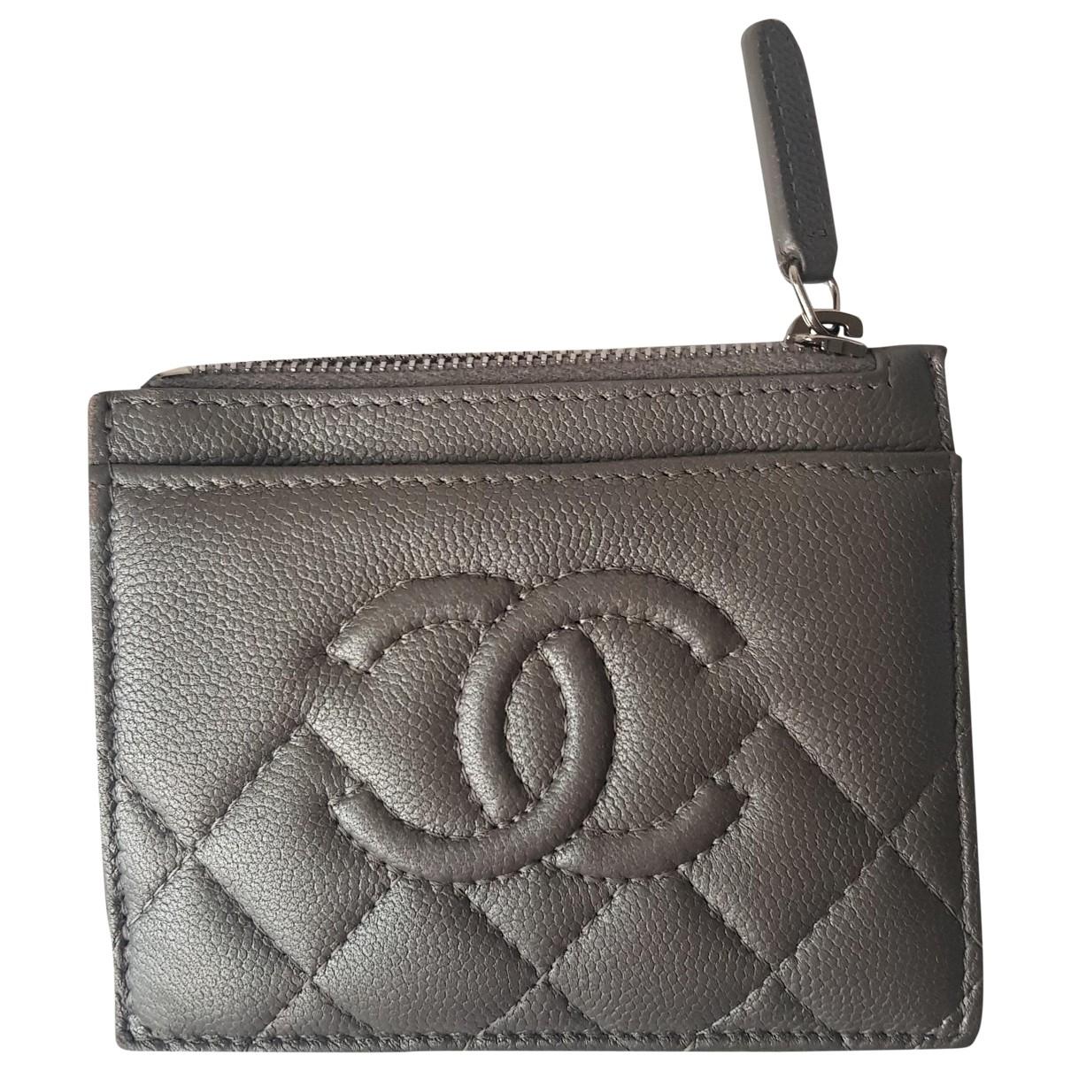 Chanel - Petite maroquinerie Timeless/Classique pour femme en cuir - argente
