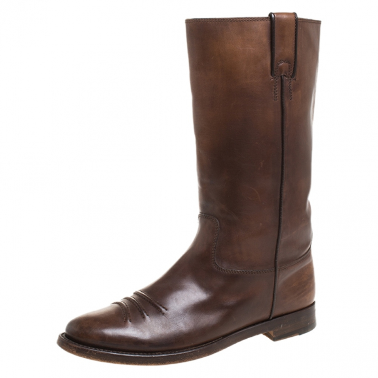 Gucci \N Brown Leather Boots for Women 10 US
