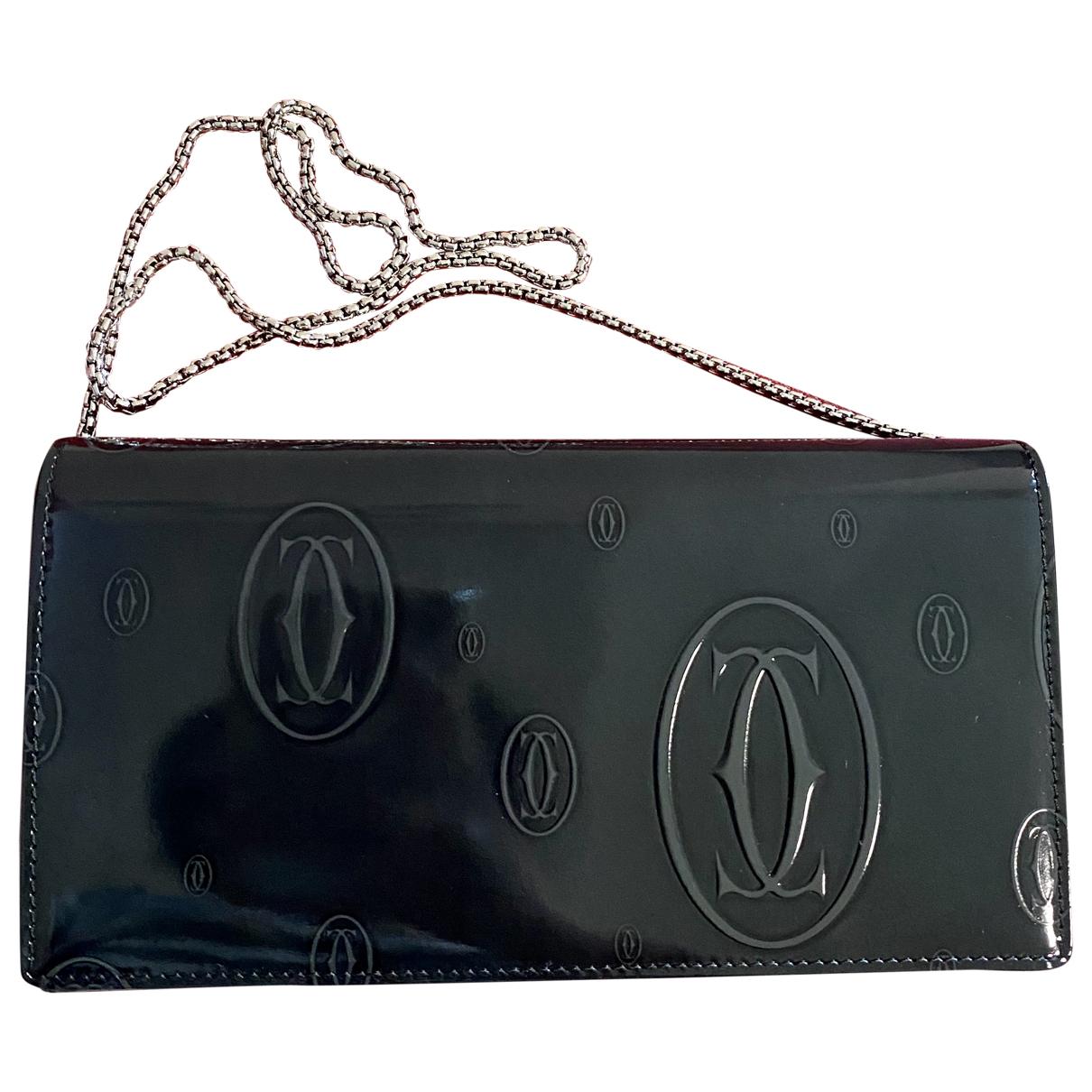 Cartier - Pochette   pour femme en cuir verni - noir