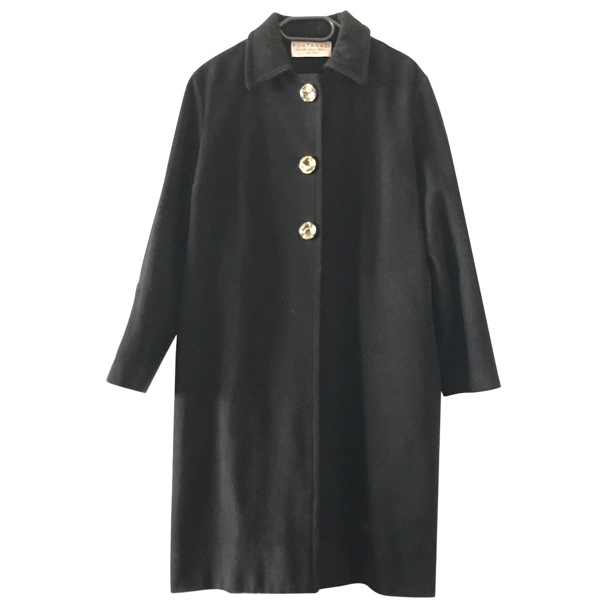 Fontana Milano 1915 - Manteau   pour femme en laine - noir