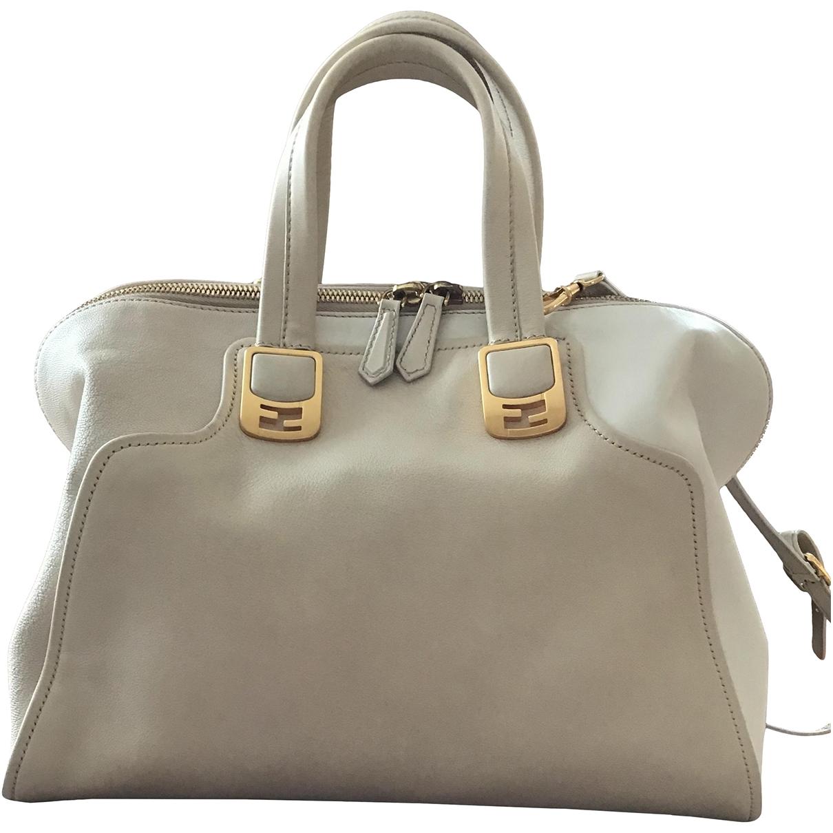 Fendi Chameleon Beige Leather handbag for Women \N