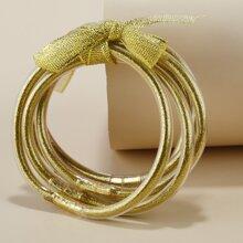 5pcs Christmas Glitter Bracelet