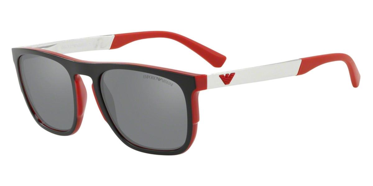 Emporio Armani EA4114F Asian Fit 56726G Men's Sunglasses Red Size 56