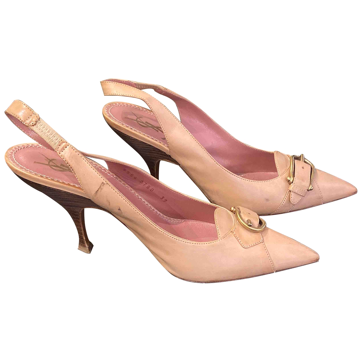 Yves Saint Laurent \N Pumps in  Beige Leder