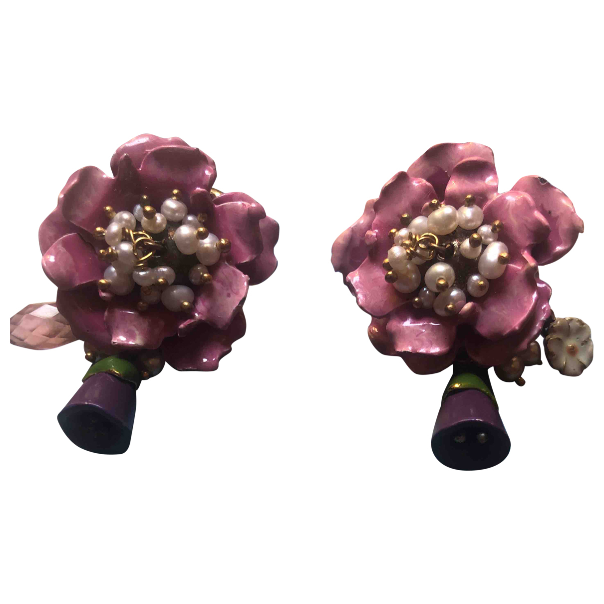 Les Nereides \N OhrRing in  Rosa Metall