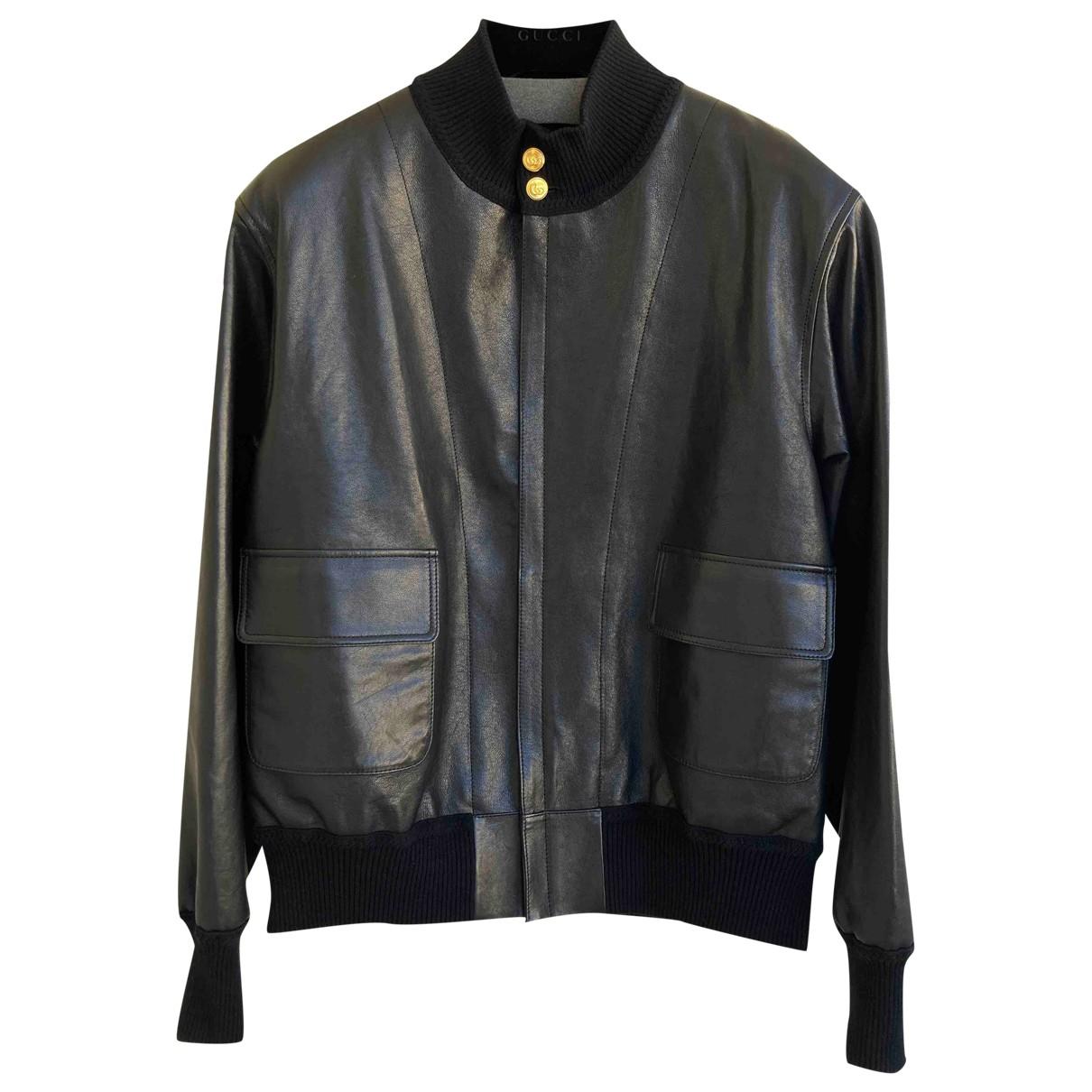 Gucci \N Black Leather jacket  for Men 52 IT
