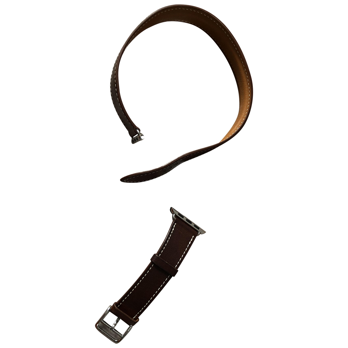 Hermès Apple Watch x Hermès Bracelet Brown Leather watch for Women \N