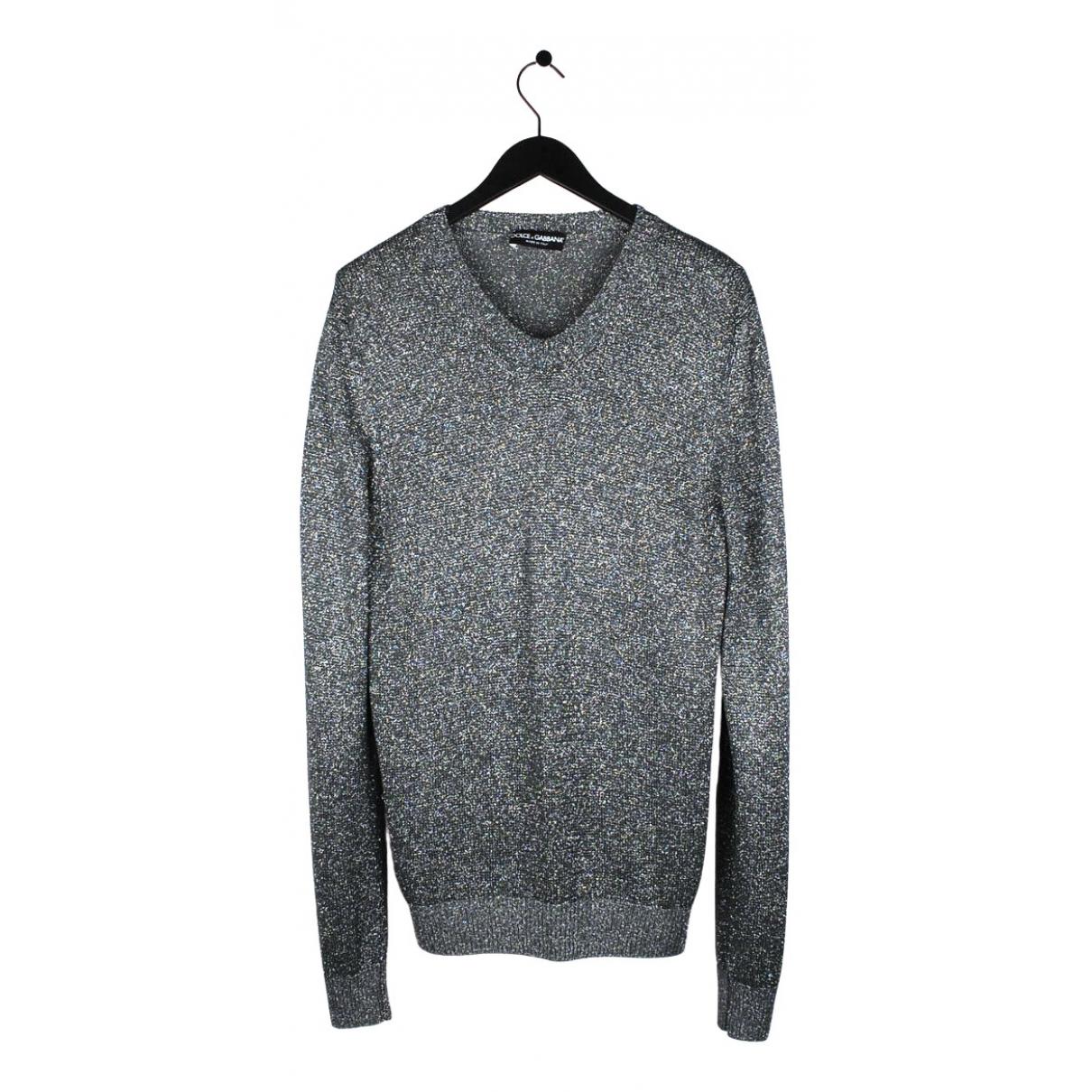 Dolce & Gabbana \N Pullover.Westen.Sweatshirts  in  Metallic Baumwolle