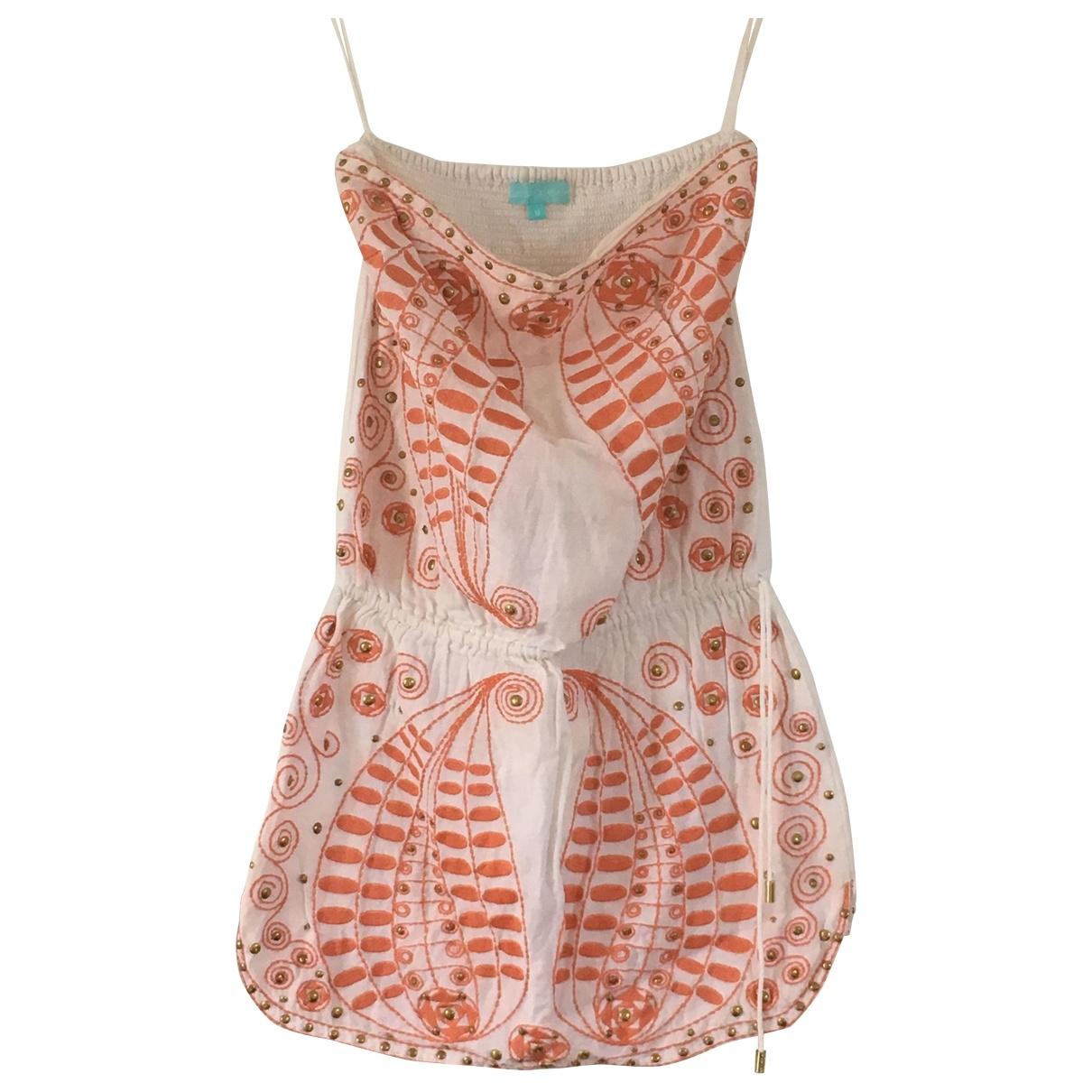 Melissa Odabash \N White Linen dress for Women M International