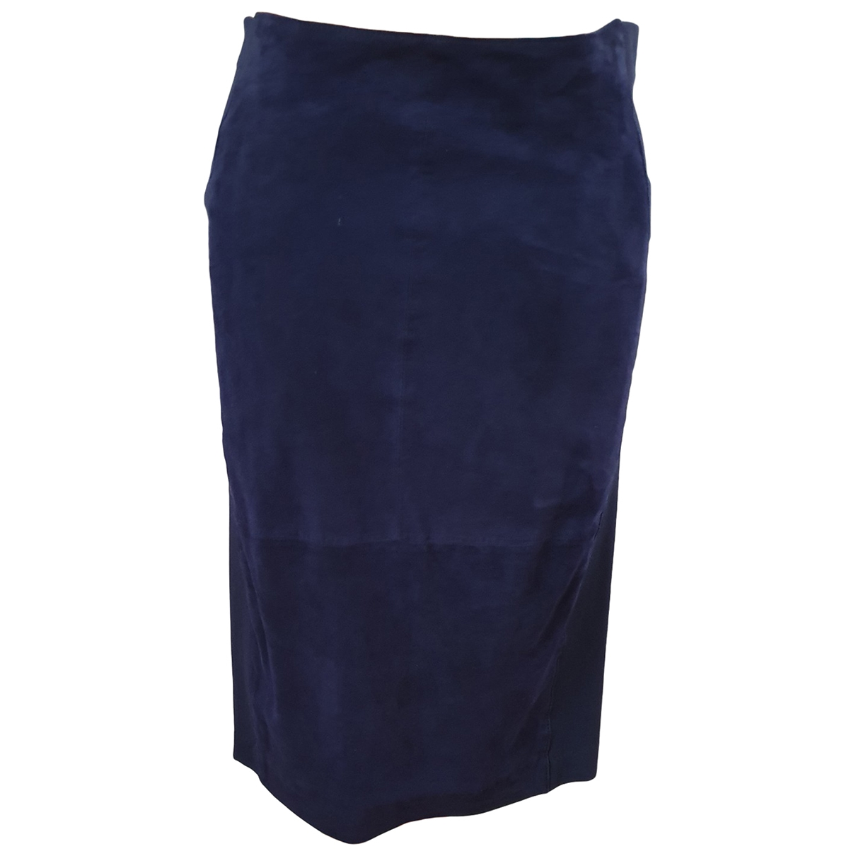 Guess - Jupe   pour femme en suede - bleu