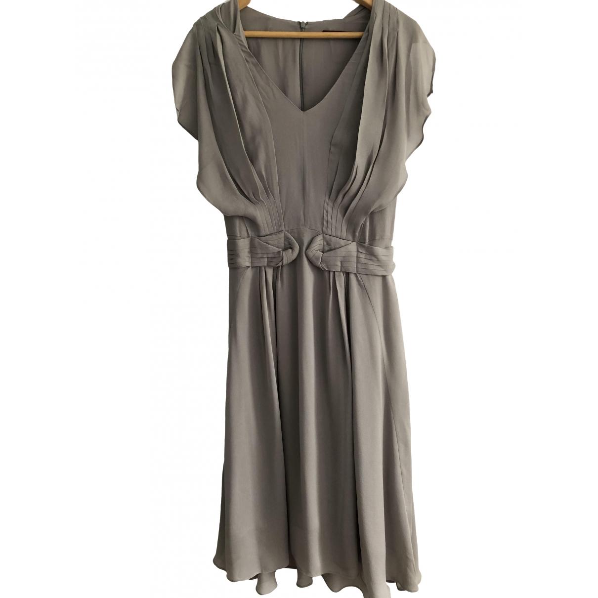 Comptoir Des Cotonniers \N Grey Silk dress for Women 38 FR