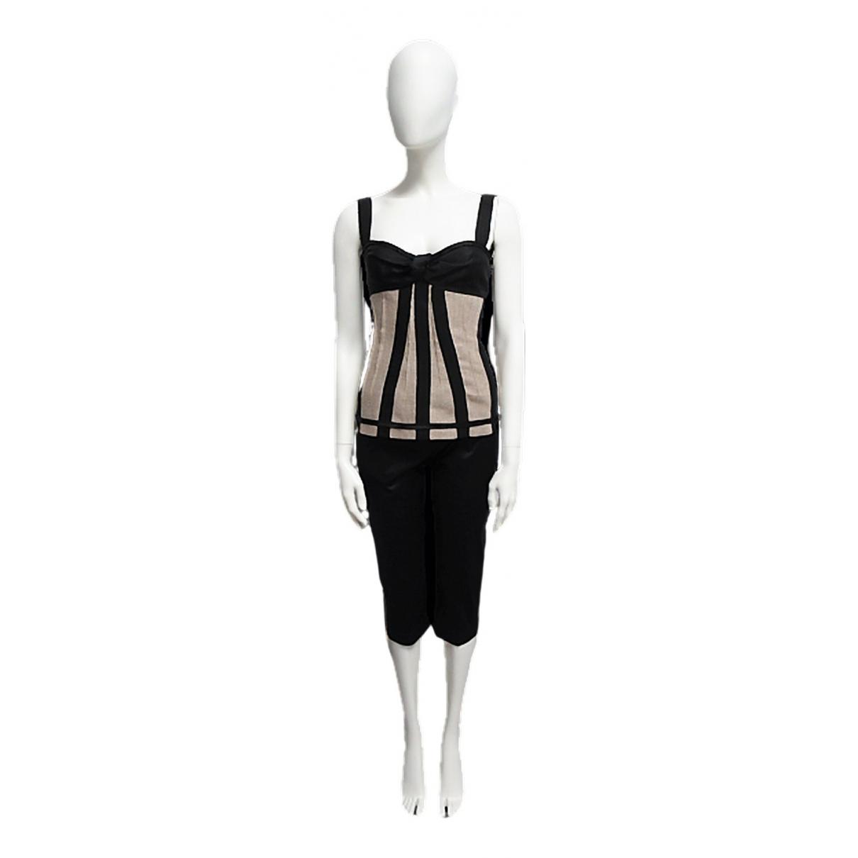 D&g \N Kleid in  Schwarz Leinen