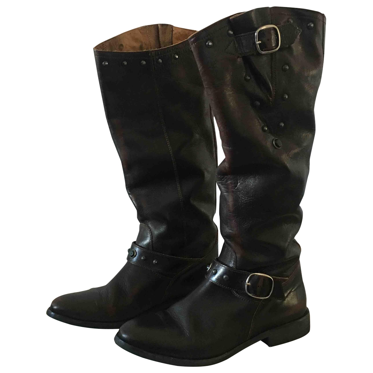 Golden Goose \N Brown Leather Boots for Women 37 EU