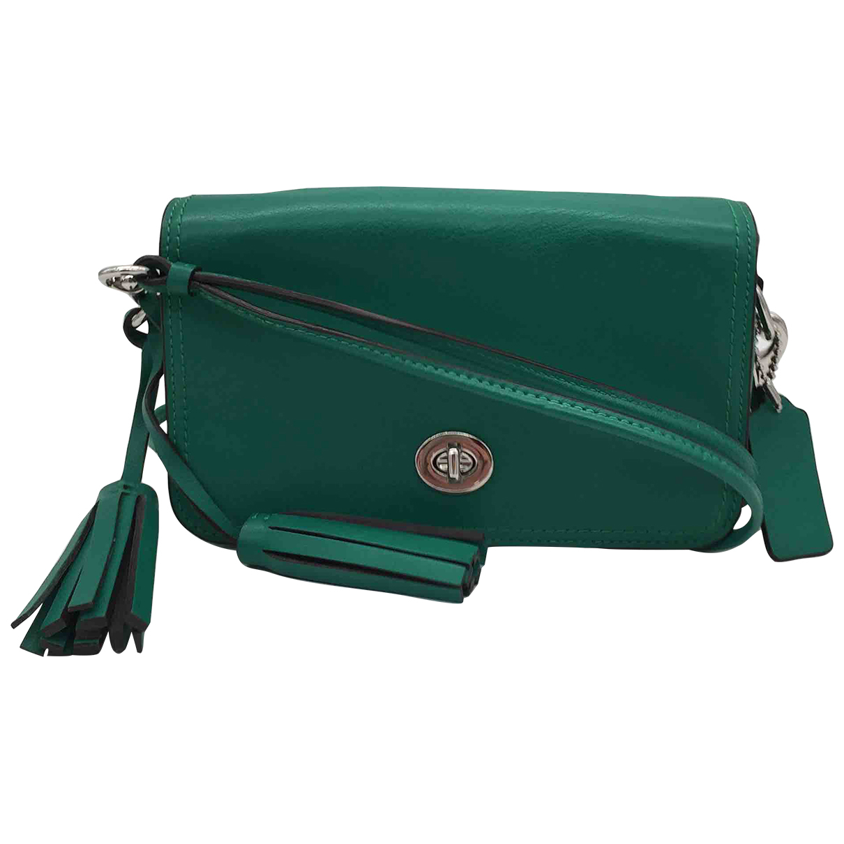 Coach \N Clutch in  Gruen Leder