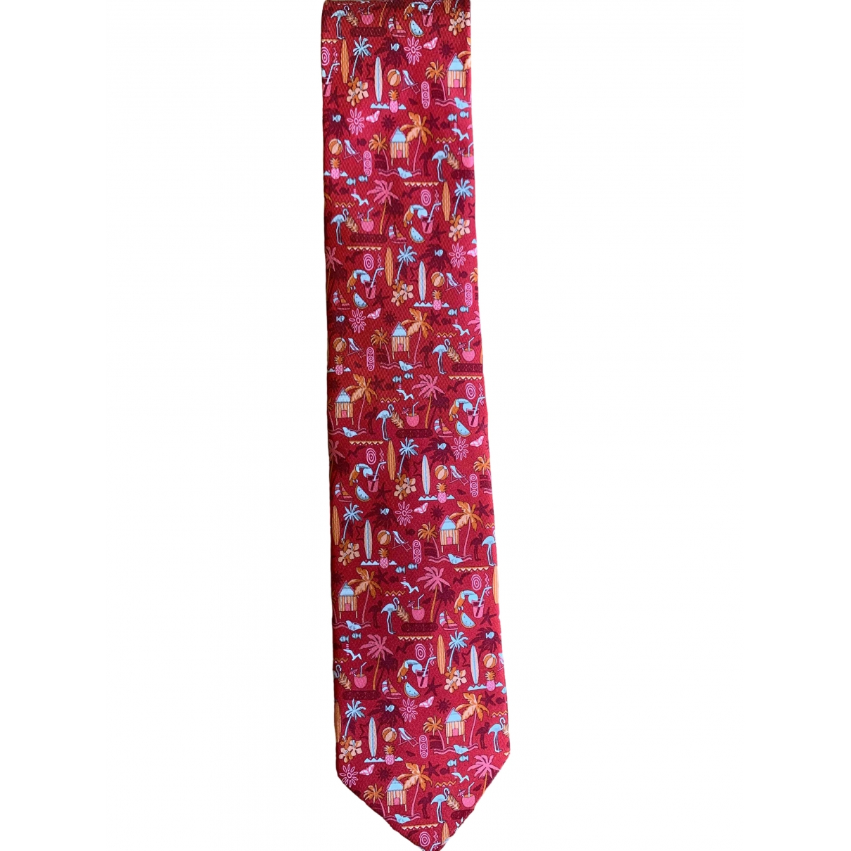 Salvatore Ferragamo \N Red Silk Ties for Men \N