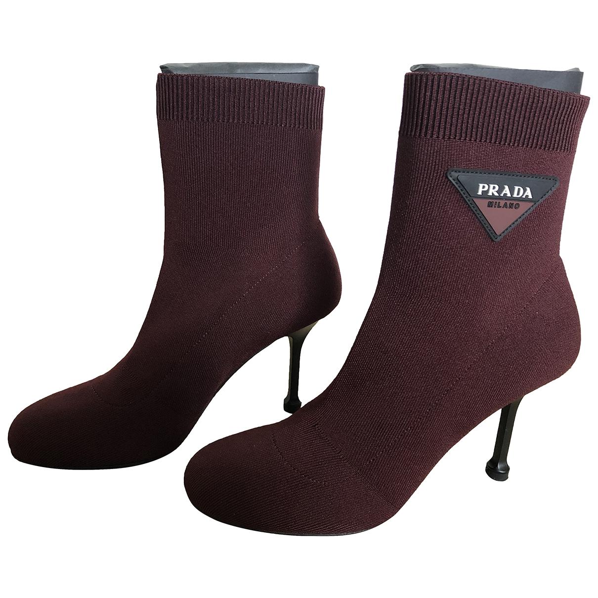 Prada \N Burgundy Boots for Women 37 EU