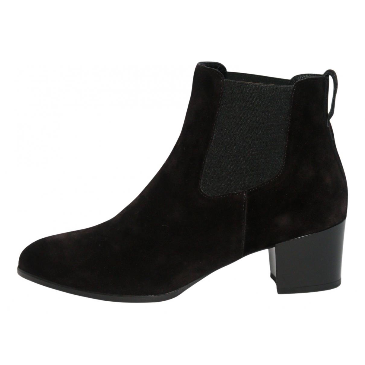 Hogan - Boots   pour femme en suede - noir