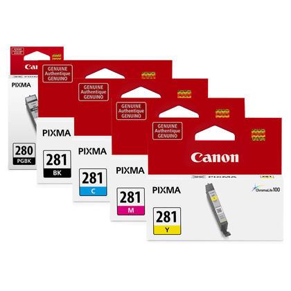 Canon PGI-280 cartouches encre PGBK+BK/C/M/Y originales, ensemble de 5 paquet - rendement standard