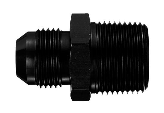 Aeroquip FCM5006 Universal Str Alum #8 Flare 1/4in Black