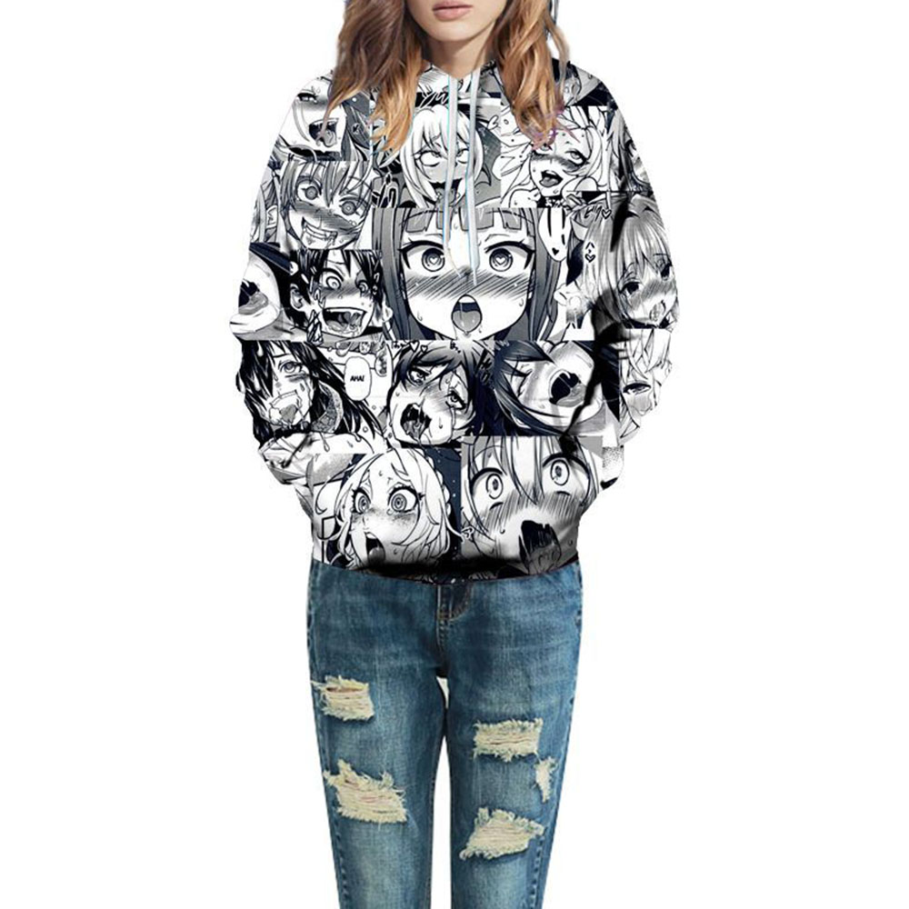 Unisex Long Sleeve 3D Anime Print Soft Breathable and Durable Hoodies