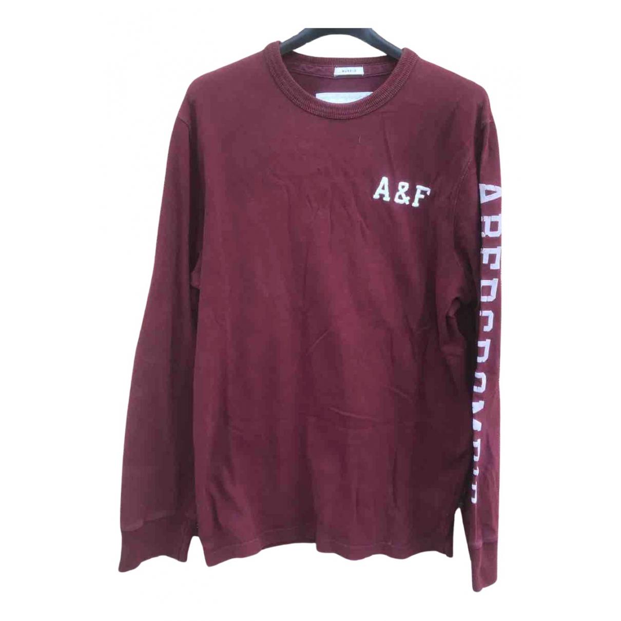 Abercrombie & Fitch \N Pullover.Westen.Sweatshirts  in  Bordeauxrot Baumwolle