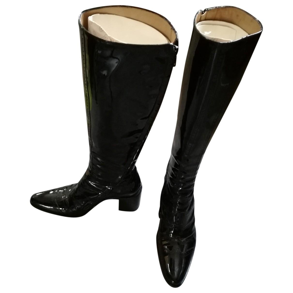 Free Lance - Bottes   pour femme en cuir verni - noir