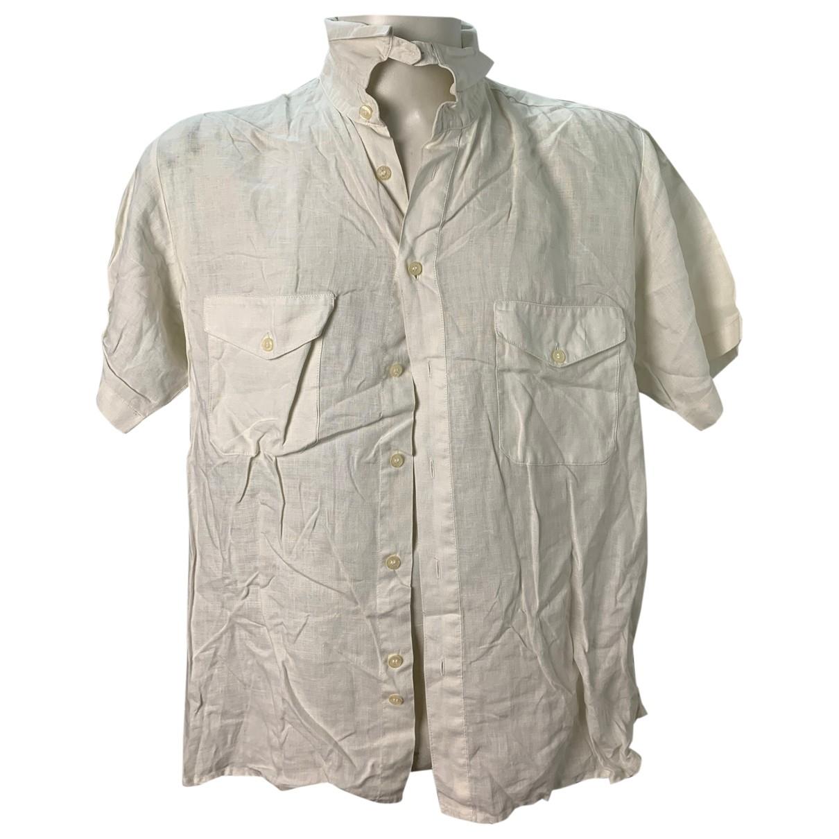 Calvin Klein - Chemises   pour homme en lin - blanc
