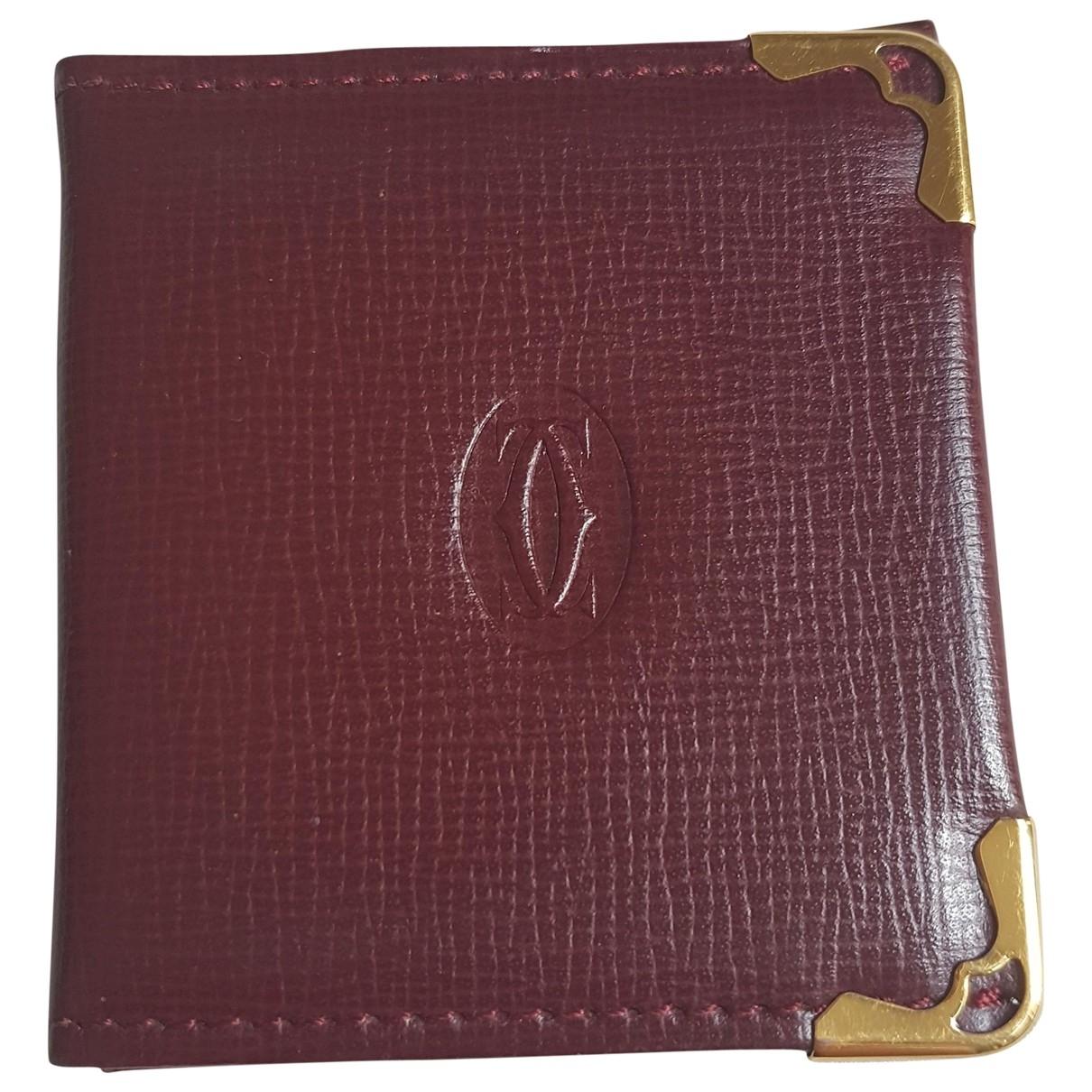 Cartier \N Accessoires und Dekoration in  Bordeauxrot Leder
