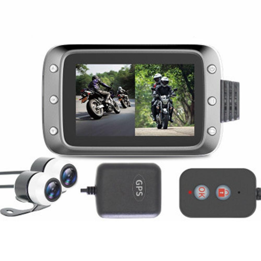 3.0inch 1080P Dual Lens 140° Wide Angle Camera Motorcycle DVR Dash Cam Video Recorder With GPS