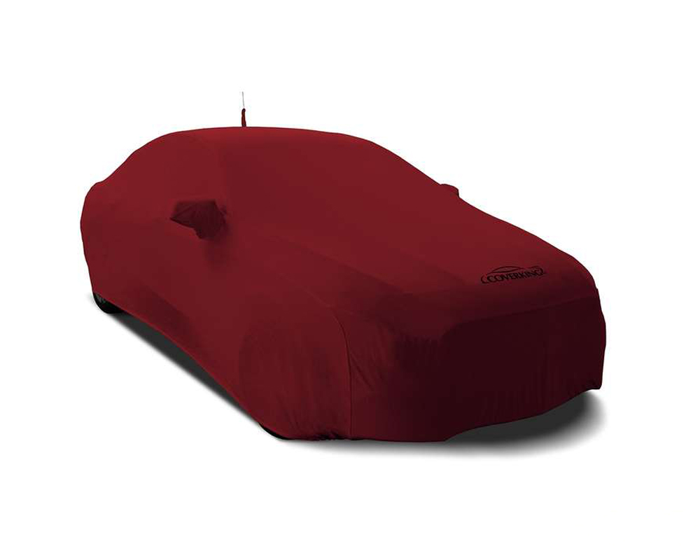 Coverking CVC3SS79FD10129 CVC3SS79 Satin Stretch Ruby Red Custom Car Cover Ford Mustang 2018-2021