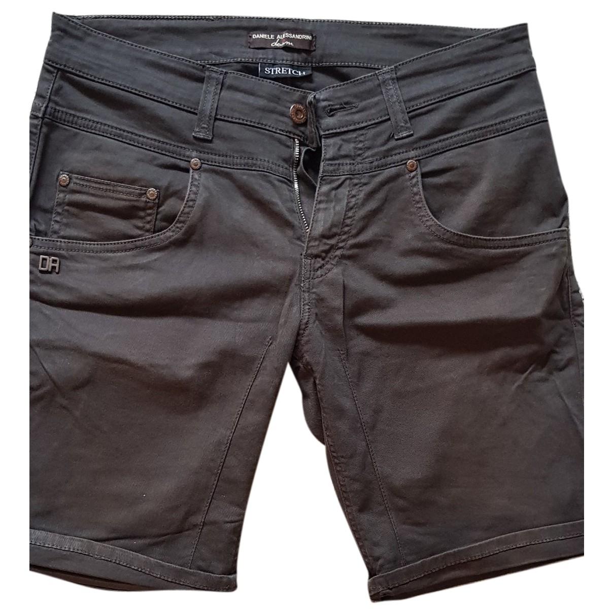 Daniele Alessandrini \N Black Cotton Shorts for Men 30 UK - US
