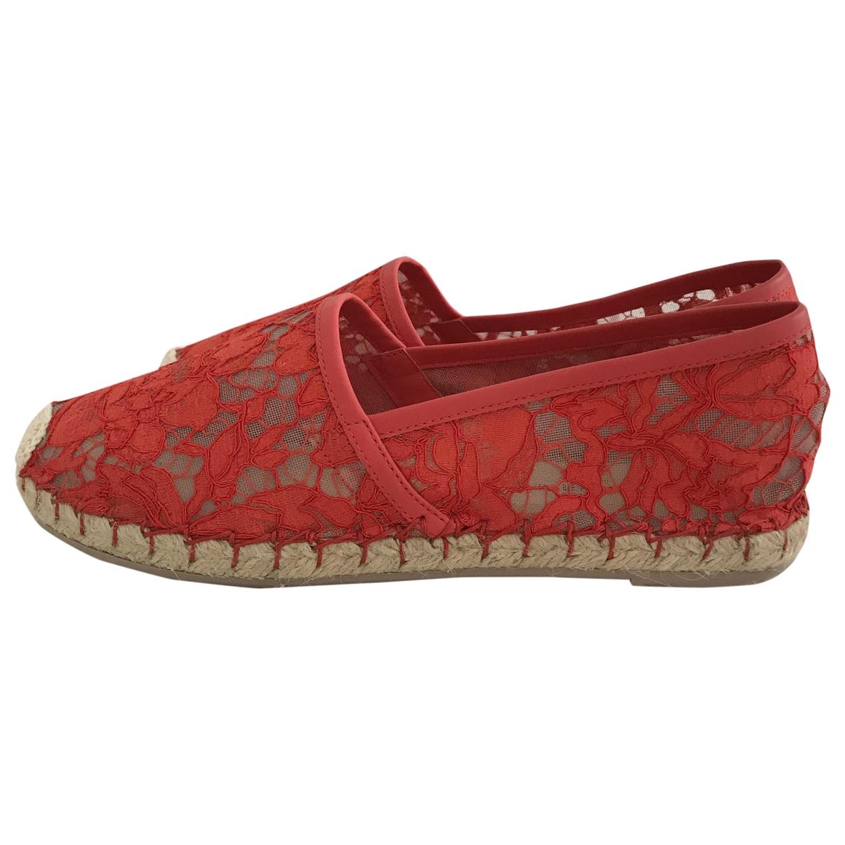 Valentino Garavani \N Red Cloth Espadrilles for Women 36 IT