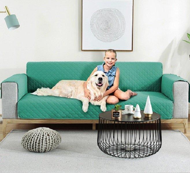 Solid Color Pet Sofa Cushion Waterproof Non-Slip Anti-Dirty Pet Sofa Protective Cover