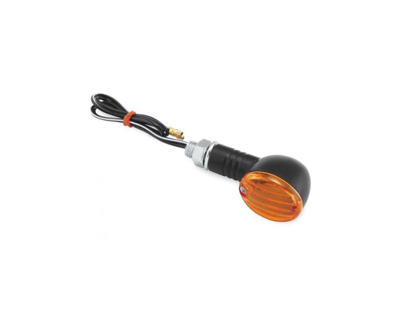 Bikemaster Ministalk Marker Light Round Black/Amber