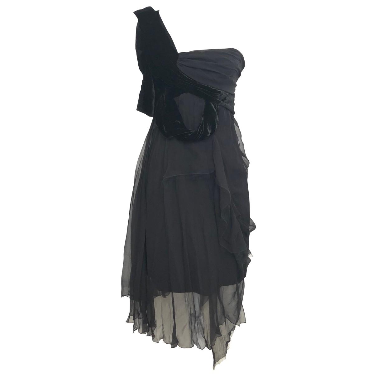 John Galliano \N Kleid in  Schwarz Samt