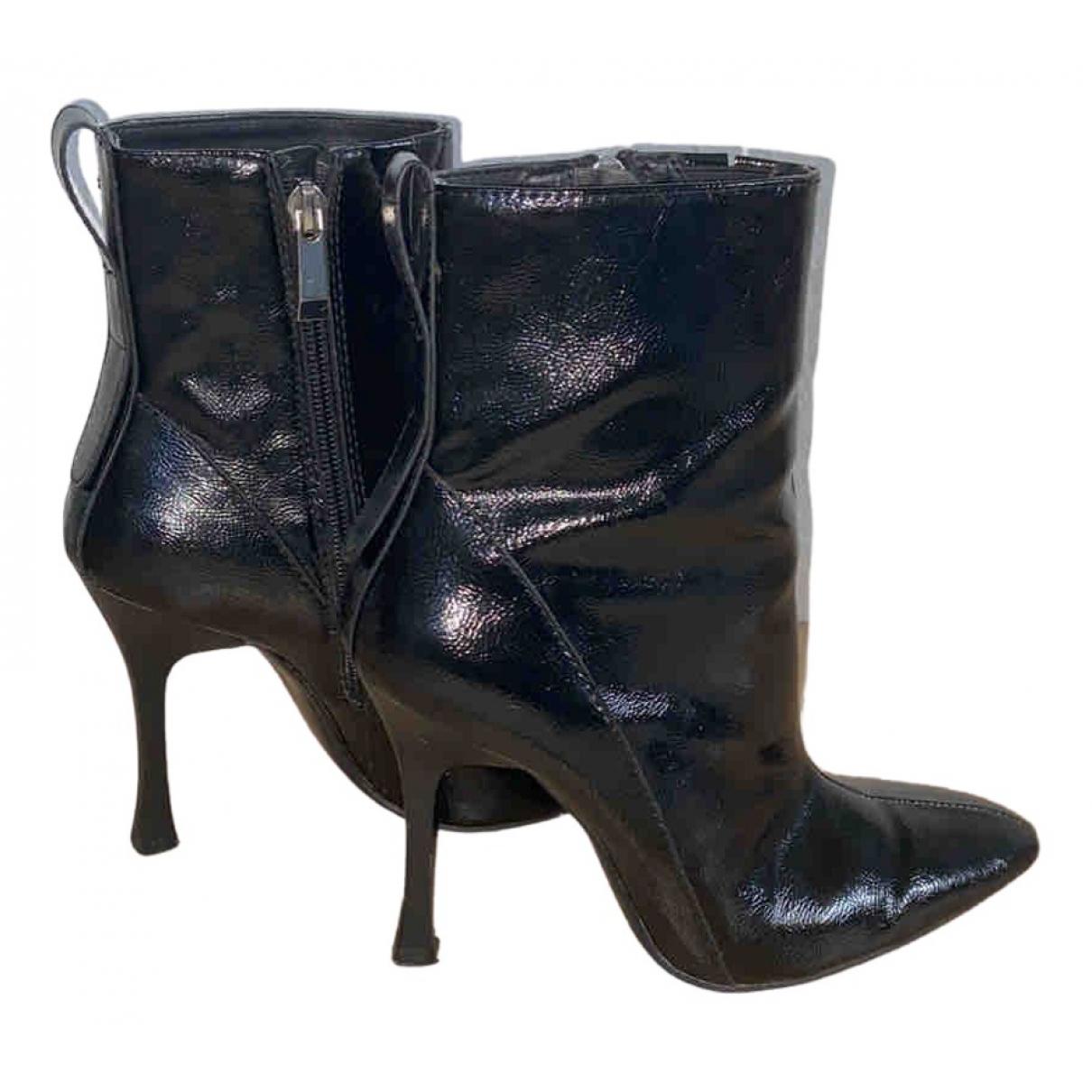Zara \N Stiefel in  Schwarz Lackleder