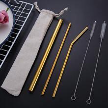 5pcs Stainless Steel Straw Set