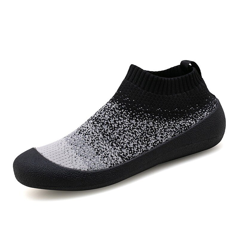 Men Knitted Fabric Breathable Non Slip Anti-colision Sport Casual Sneakers