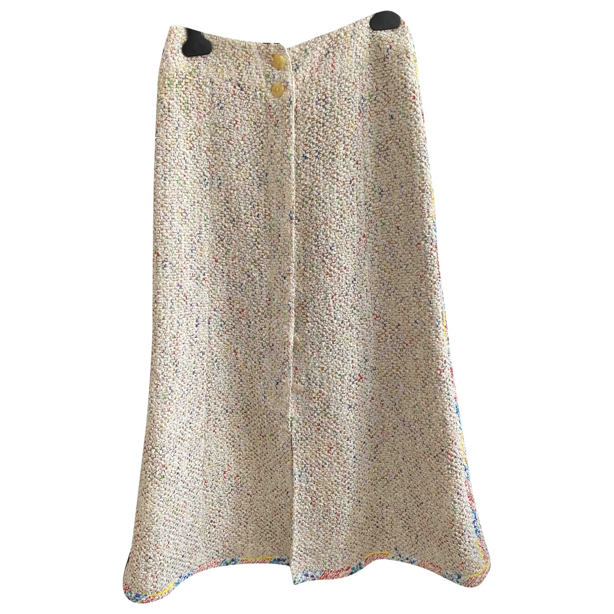 Chanel - Jupe   pour femme en coton - beige