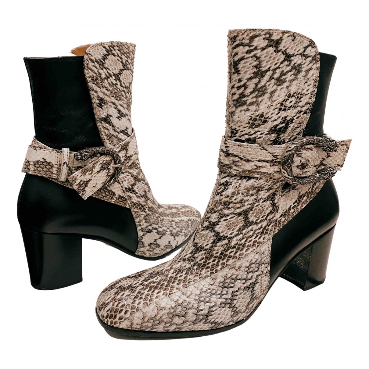 Gucci - Boots Dionysus pour femme en cuir - noir