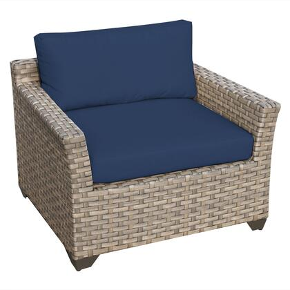 TKC015b-CC-NAVY Monterey Club Chair with 2 Covers: Beige and