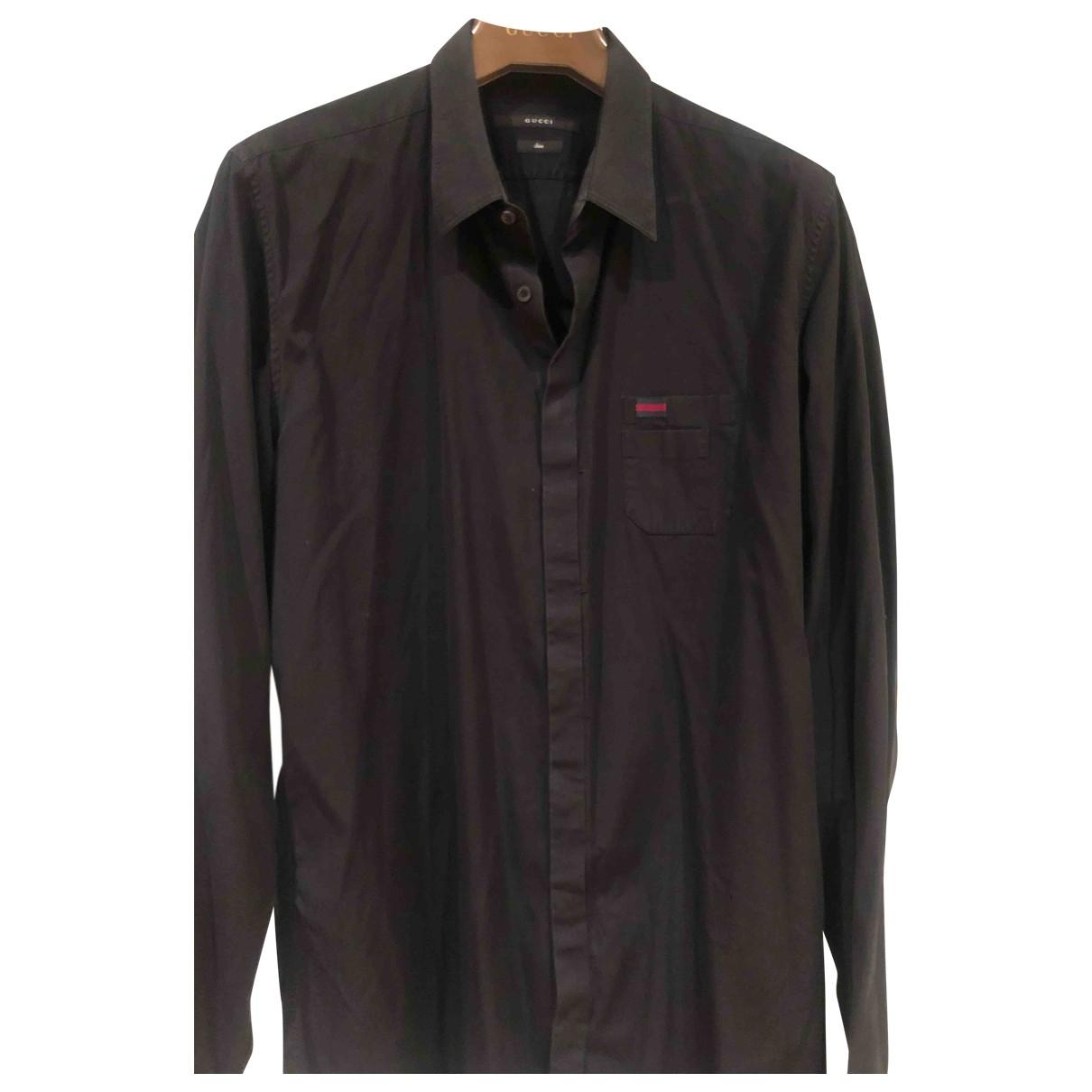 Gucci - Chemises   pour homme en coton - noir