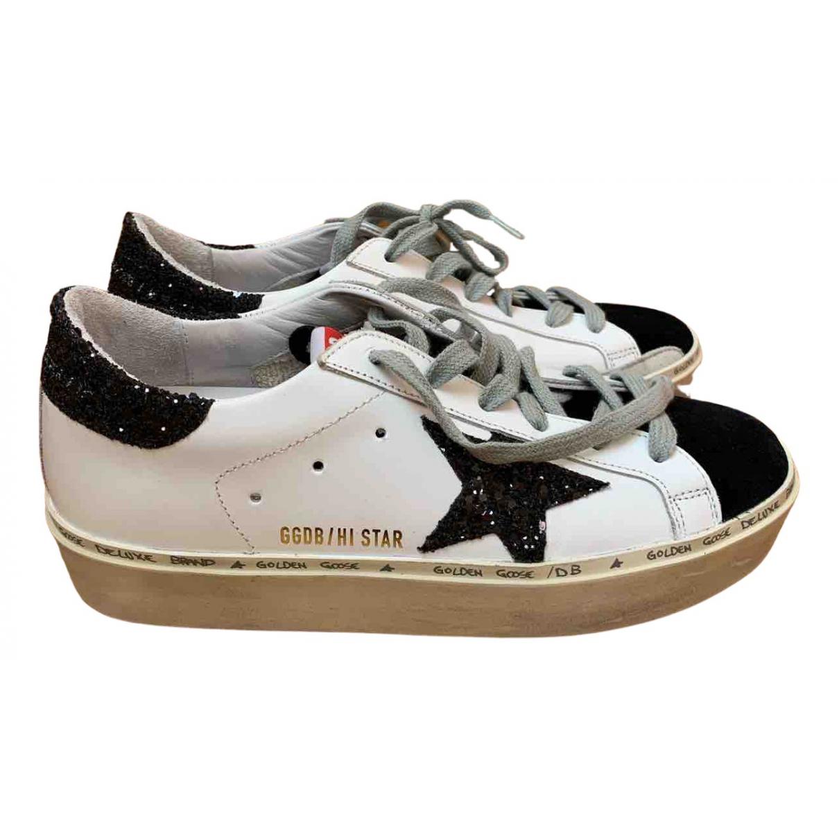Golden Goose - Baskets Hi Star pour femme en cuir - blanc