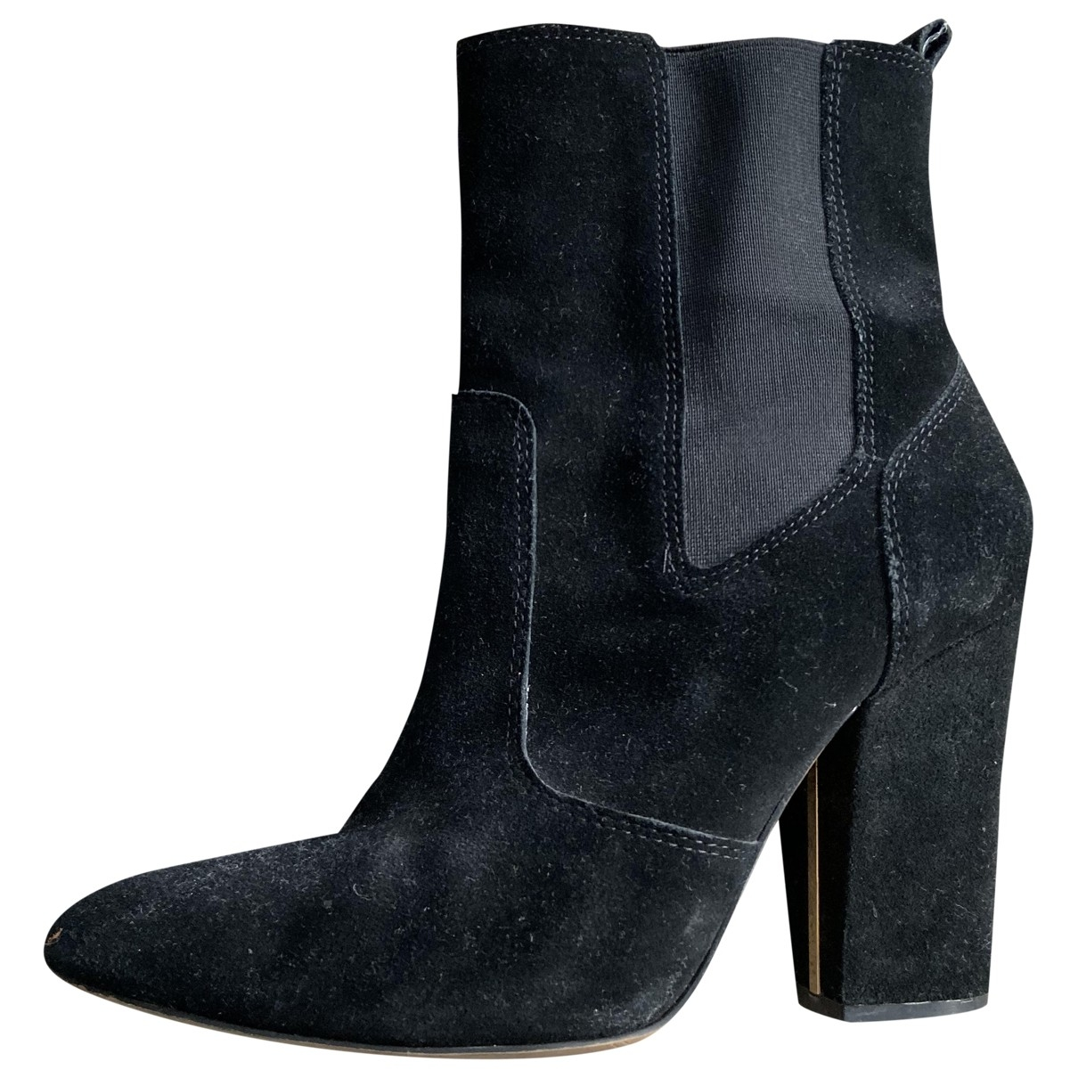 Massimo Dutti \N Black Suede Ankle boots for Women 39 EU