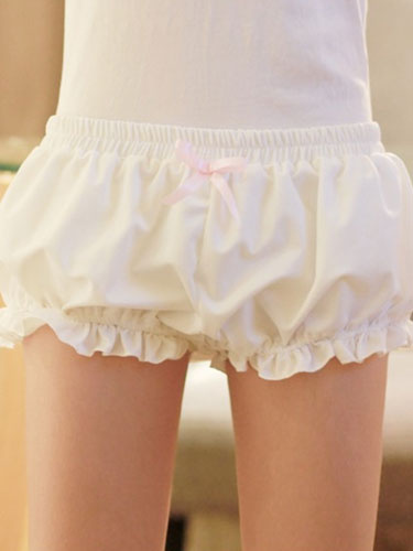 Milanoo Black Lolita Bloomers Bows Cotton Lolita Shorts For Women