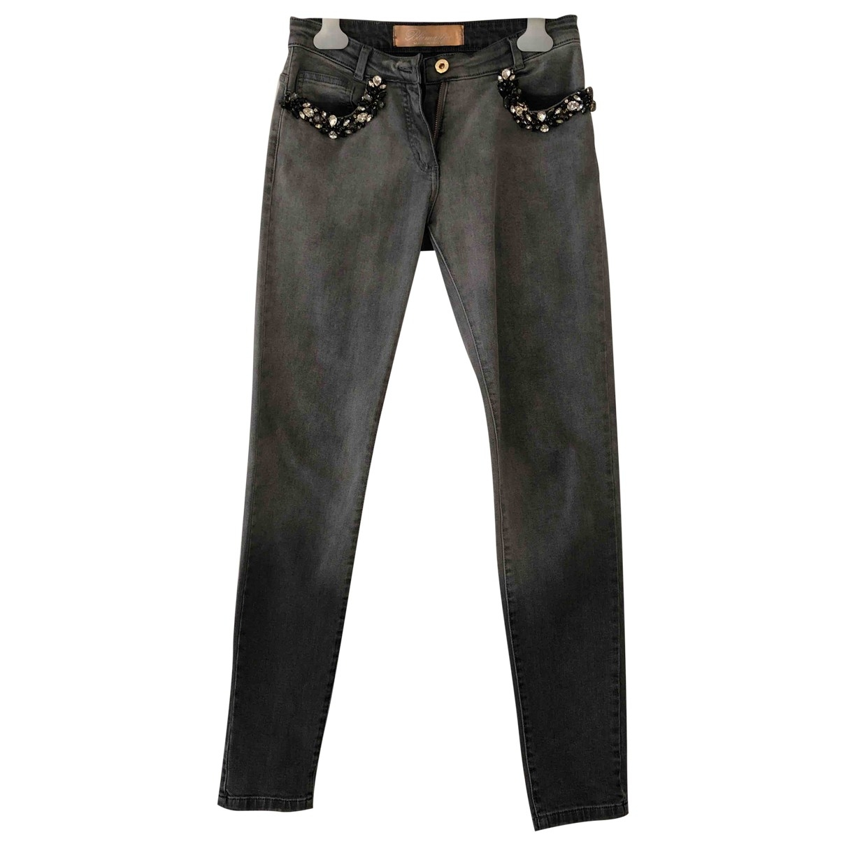 Blumarine \N Anthracite Cotton Jeans for Women 38 FR