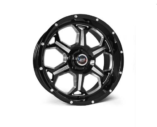 Rebel Racing Fortress Wheel 20x9 6x139.7 0mm Black/Machined